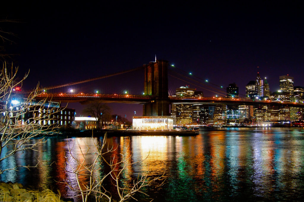 Photo Downtown Manhattan Bridge nuit