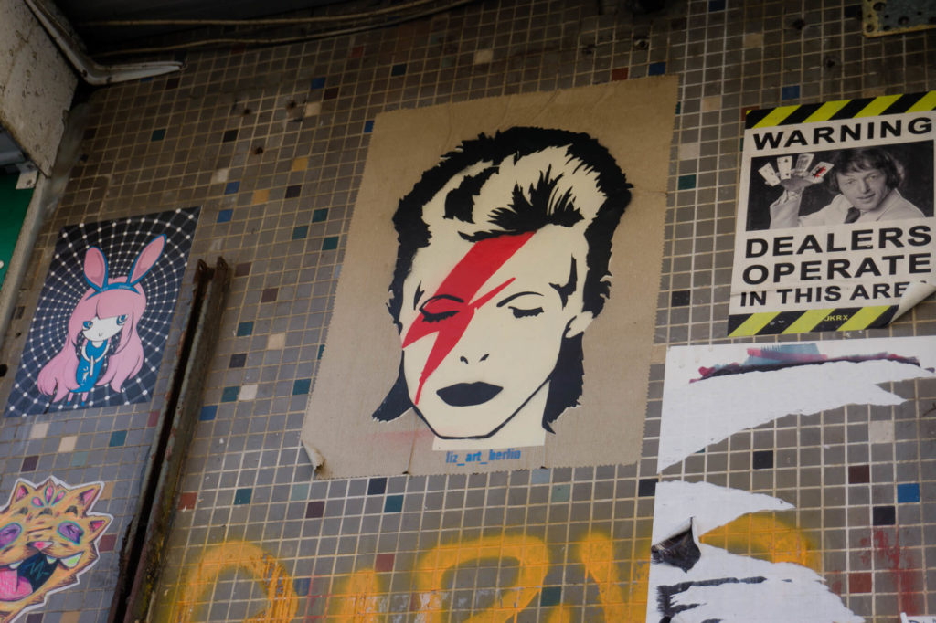 Street art à Berlin David Bowie